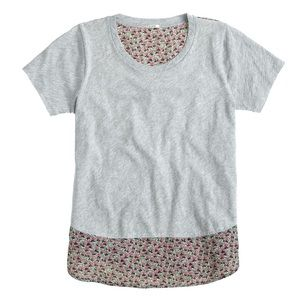 J Crew vintage cotton silk back ditzy floral tee